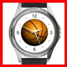 Basketball Sports Game Hobby Round Metal Wrist Watch Unisex 034