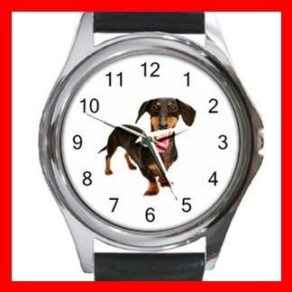 Dachshund Dog Pet Animal Round Metal Wrist Watch Unisex 035