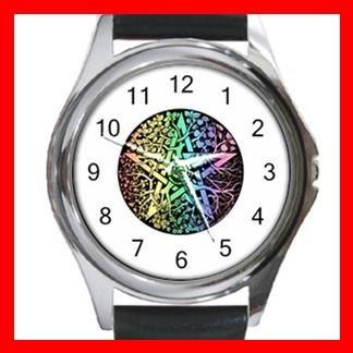 Pentagram Pentacle Seasons Round Metal Wrist Watch Unisex 036