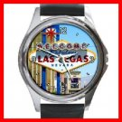Welcome Las Vegas City Round Metal Wrist Watch Unisex 042