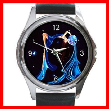Aquarius Zodiac Hobby Fun Round Metal Wrist Watch Unisex 048