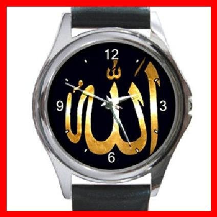 Allah God ISLAMIC Hobby Round Metal Wrist Watch Unisex 050