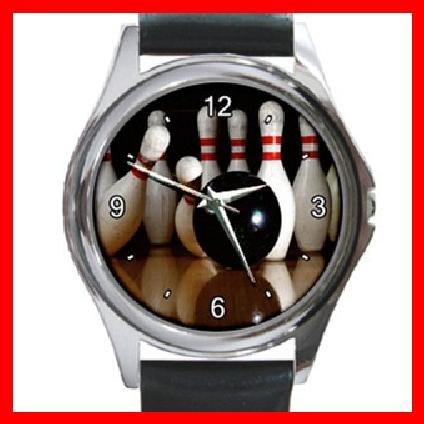 Bowling Sport Game Round Metal Wrist Watch Unisex 051