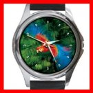 Parrot Flying Bird Round Metal Wrist Watch Unisex 066