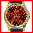 Wicca Pentagram Pentacle Round Metal Wrist Watch Unisex 070