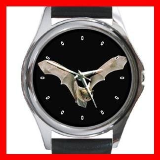 Bat Flying in Dark Round Metal Wrist Watch Unisex 075