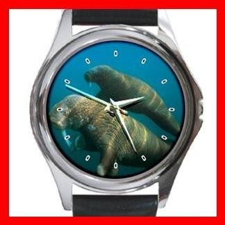 Sea Elephant Round Metal Wrist Watch Unisex 076