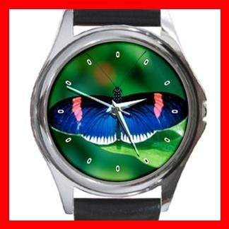 Rare Butterfly Fly Round Metal Wrist Watch Unisex 082