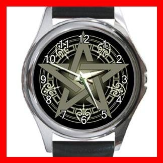 WICCA WICCAN PAGAN Round Metal Wrist Watch Unisex 083
