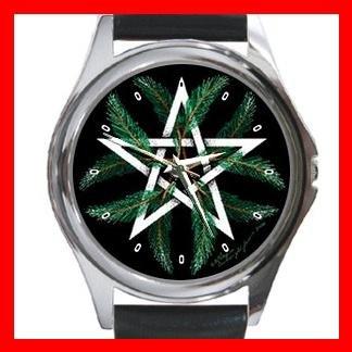 Winter Pentacle Round Metal Wrist Watch Unisex 088