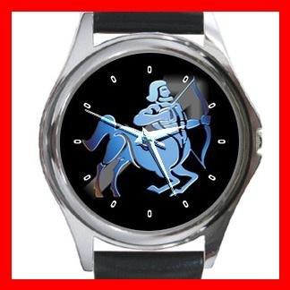 Sagittarius Zodiac Hobby Round Metal Wrist Watch Unisex 091