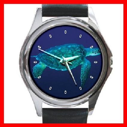 Sea Turtle Animal Round Metal Wrist Watch Unisex 102