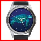 Sea Turtle Animal Round Metal Wrist Watch Unisex 102