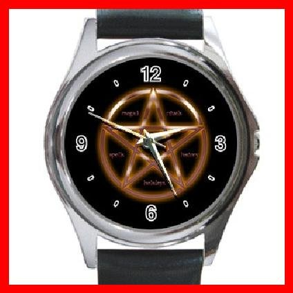 WICCA WICCAN PAGAN Round Metal Wrist Watch Unisex 104