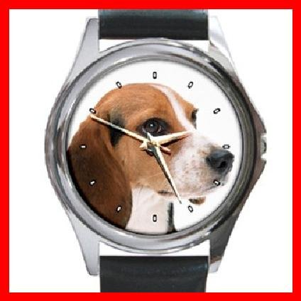 Beagle Dog Pet Round Metal Wrist Watch Unisex 105