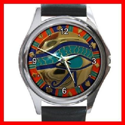 EGYPTIAN EYE OF HORUS Round Metal Wrist Watch Unisex 106