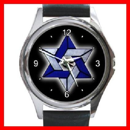 Star Of David Round Metal Wrist Watch Unisex 107