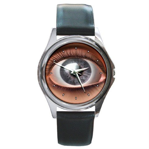 Horror Stare Eye Round Metal Wrist Watch Unisex 110
