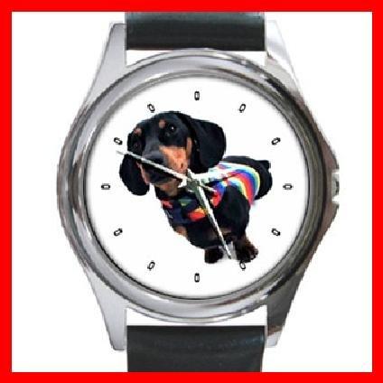 Dachshund Dog Pet Round Metal Wrist Watch Unisex 111