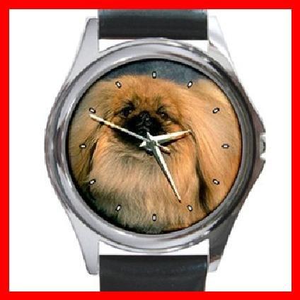 PEKINGESE Dog Pet Round Metal Wrist Watch Unisex 118