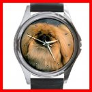 PEKINGESE Dog Pet Round Metal Wrist Watch Unisex 118