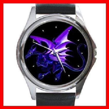 Blue Dragon Myth Fantasy Round Metal Wrist Watch Unisex 131