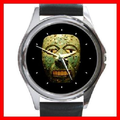 AZTEC Art Ancient History Round Metal Wrist Watch Unisex 138