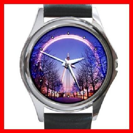 British Airways London Eye at Dusk Round Metal Wrist Watch Unisex 140