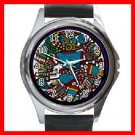AZTEC Art Ancient History Round Metal Wrist Watch Unisex 143