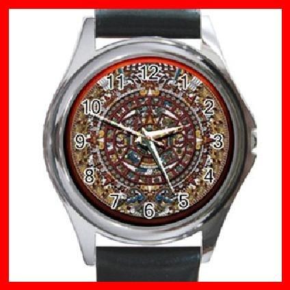 AZTEC Art Ancient History Round Metal Wrist Watch Unisex 144