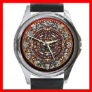 AZTEC Art Ancient History Round Metal Wrist Watch Unisex 144