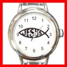 Christian Jesus Fish Round Charm Wrist Watch New!!!