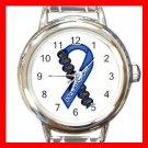 DOWN SYNDROME AWARENESS Round Italian Charm Wrist Watch