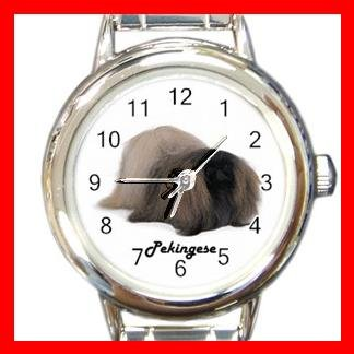 Cute Pekingese Pet Dog Animal Round Italian Charm Wrist Watch 501