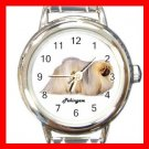 Cute Pekingese Pet Dog Animal Round Italian Charm Wrist Watch 502