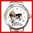 Cute Petit Basset Griffon Vendeen Pet Dog Animal Round Italian Charm Wrist Watch 504