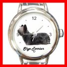 Cute Skye Terrier Pet Dog Animal Round Italian Charm Wrist Watch 505