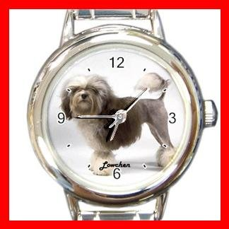 Cute Lowchen Round Pet Dog Animal Round Italian Charm Wrist Watch 515