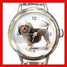 Cute Lowchen Round Pet Dog Animal Round Italian Charm Wrist Watch 515