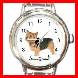 Cute Norwich Terrier Pet Dog Animal Round Italian Charm Wrist Watch 517