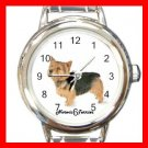 Cute Norwich Terrier Pet Dog Animal Round Italian Charm Wrist Watch 517