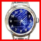 Spider Web Halloween Round Italian Charm Wrist Watch 519