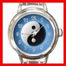 Yin Yang Fortune Symbol Round Italian Charm Wrist Watch 523