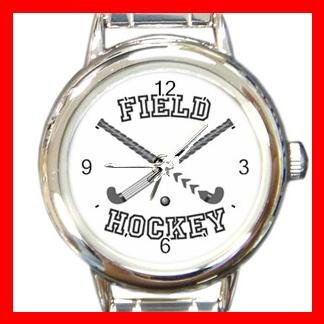 Field Hockey Sports Game Round Italian Charm Wrist Watch 524