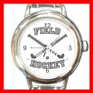 Field Hockey Sports Game Round Italian Charm Wrist Watch 524