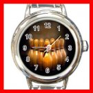 Bowling Game Sports Game Round Italian Charm Wrist Watch 525