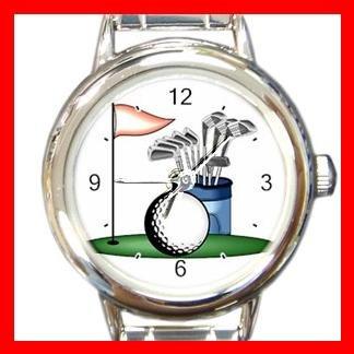 Golf Sports Game Hobby Fun Round Italian Charm Wrist Watch 529