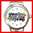 AUTISM Awareness Health Kids Round Italian Charm Wrist Watch 531