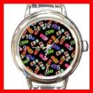 Flip-Flops Slipper Round Italian Charm Wrist Watch 540