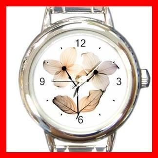 Dogwood Flowers Round Italian Charm Wrist Watch 549